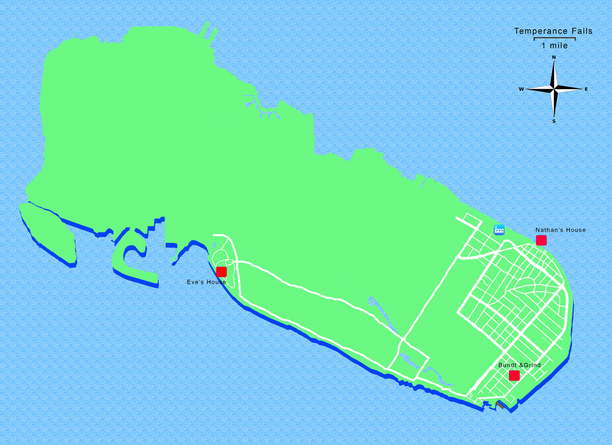 Temperance Falls map